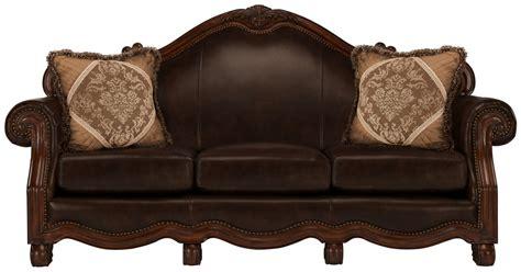 City Furniture Regal Dark Tone Leather Sofa City Furniture Leather Sofa