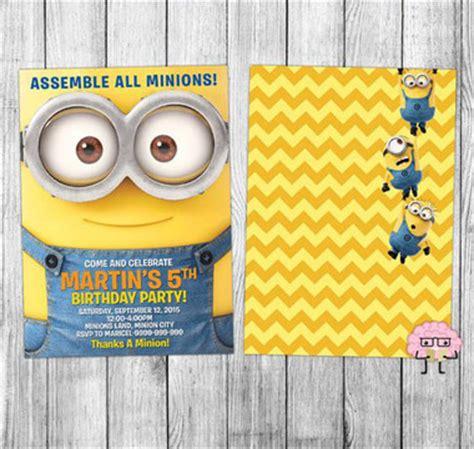 imagenes de minions para invitaciones tarjetas de cumplea 241 os de minions con im 225 genes para