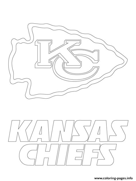 Kansas City Chiefs Logo Football Sport Coloring Pages Kc Colour Pages