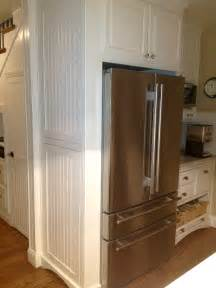 fridge kitchen cabinet martha s renovated kitchen in california hooked on houses