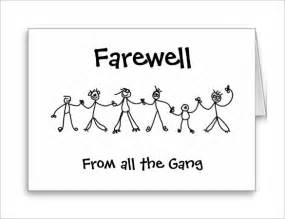 Goodbye Card Template by Farewell Card Template 25 Free Printable Word Pdf Psd