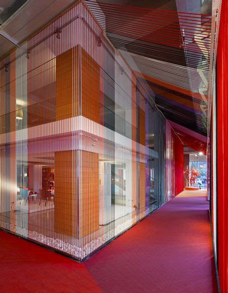 Stephen Wall Design Architecture by Calligaris Offices In Filled With Colourful Ropes