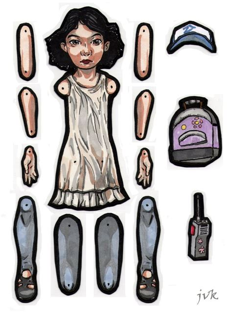 jointed doll template clementine jointed paper doll by maduntwoswords on deviantart