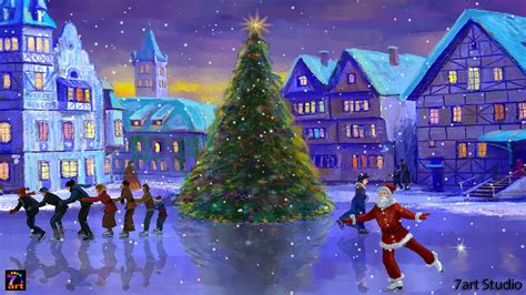 christmas live themes for windows 7 christmas rink screensaver and live wallpaper your