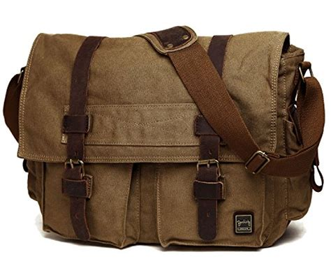 Abi Laptop 13 Army Green berchirly vintage canvas messenger bag for 13