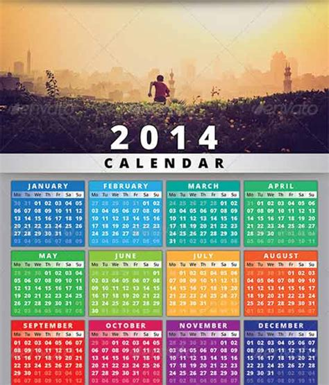 Free Template Calendar 2014 – Free 2014 calendar teplate InDesign