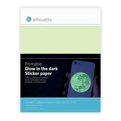 silhouette printable sticker paper 8 5 x 11 10 pkg kraft 8 5 quot x 11 quot printable glow in the dark sticker paper