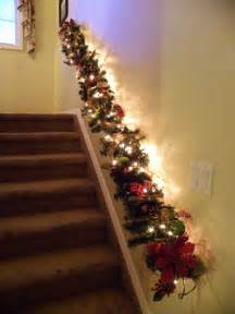 Garland For Banister Decorate The Stairs For Christmas 30 Beautiful Ideas