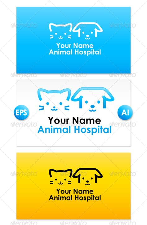 whittier dog cat hospital animal hospital licensed animal hospital logo graphicriver