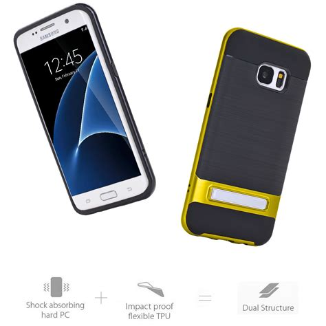 Samsung Galaxy S8 Hybrid Bumper Cover Armor Soft Tpu slim bumper shockproof armor stand rubber cover for