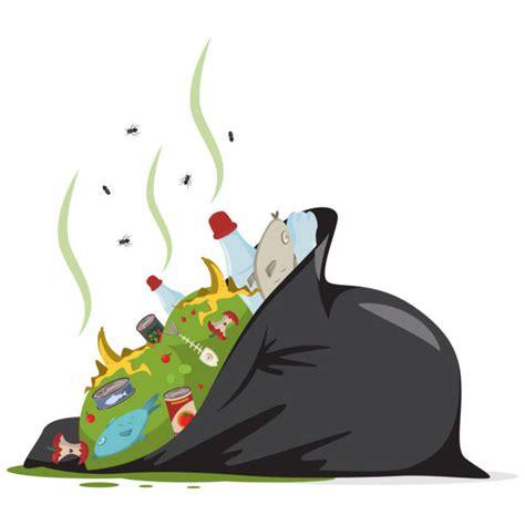 black trash bag illustrations royalty  vector