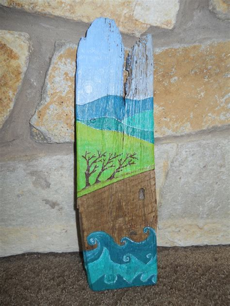 acrylic paint on wood ideas acrylic painting on driftwood painted driftwood
