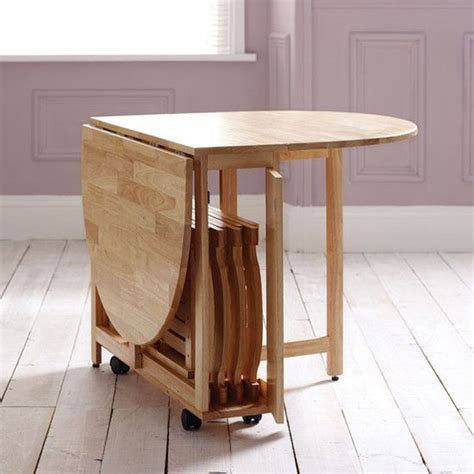 Compact Folding Dining Table 20 Compact Tables And Chairs That Maximize Limited Space Noted List