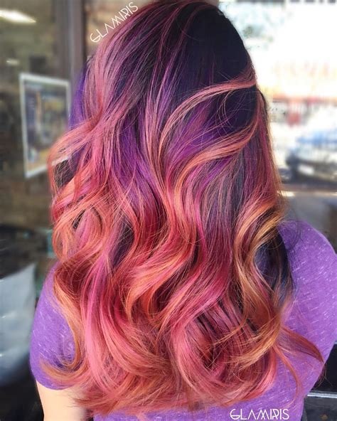 40 versatile ideas of purple highlights for blonde brown fluorescent purple hair long hairstyles