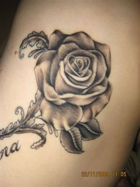 rose tattoo designs black and white universal black