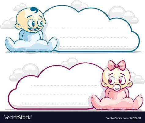Baby Cloud Print One baby cloud blank royalty free vector image vectorstock