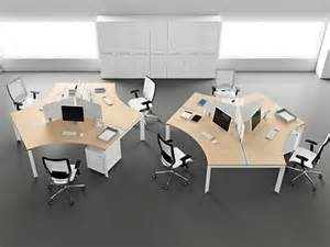 Luxury modern office furniture design idea with white desk with white