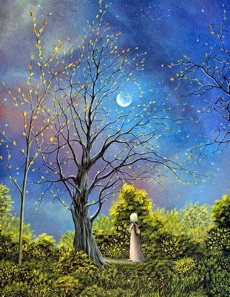 imagenes de jardines nocturnos cuadros modernos pinturas y dibujos paisajes nocturnos