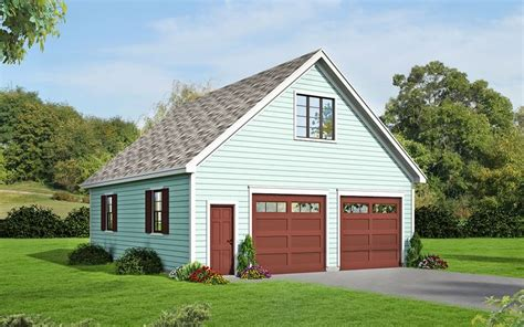 detached garage plans with loft plan 68456vr 2 car detached garage with man cave above