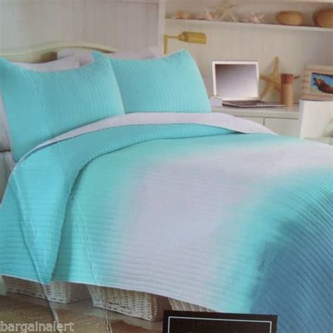 turquoise and white bedding quilt turquoise and ombre on pinterest