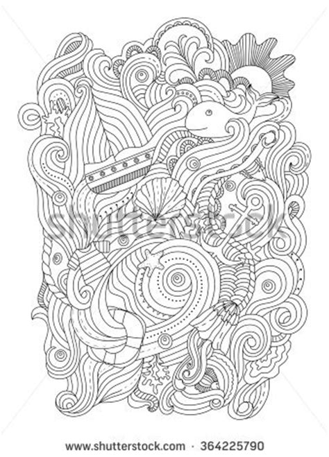 nautical coloring pages for adults nautical pattern adult coloring page stock photo