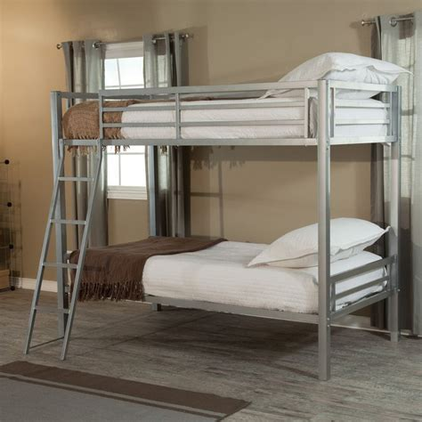 duro wesley twin over full bunk bed silver hayneedle this is the one we bought duro hanley twin over twin bunk