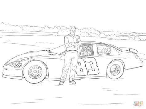 dale earnhardt coloring page dale earnhardt jr with his car coloring page free