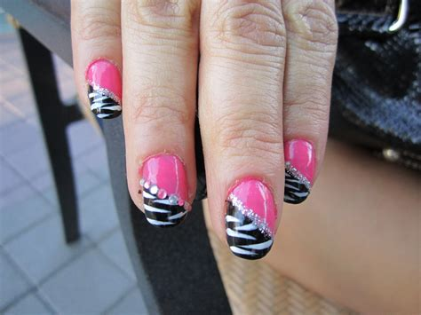 Black And Pink Zebra Nail Designs blanca1018 pink and black zebra nail design blue