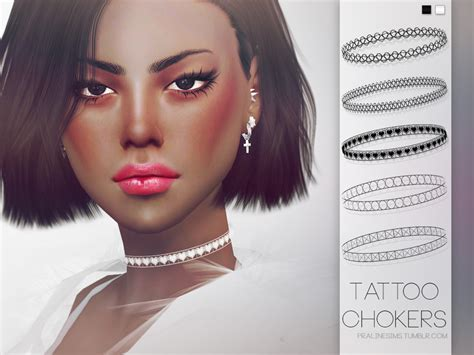 pralinesims tattoo chokers