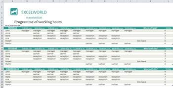 work hours excel template excel employee schedule template free excel spreadsheets