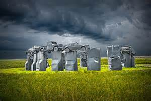 Cadillac Henge Car Henge In Alliance Nebraska After S Stonehenge