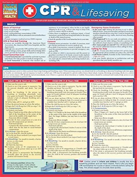 Cpr Amp Lifesaving Quick Study Toolfanatic Com