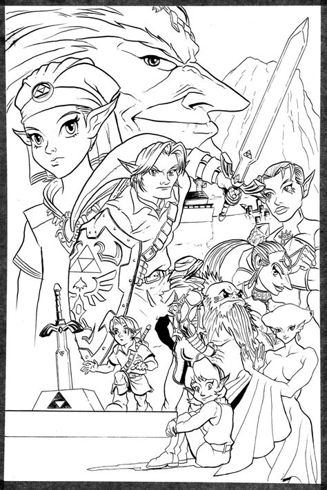 Legend Of Zelda Ocarina Of Time Coloring Pages Coloring Pages Coloring Page Of Legend Of Ocarina Of Time