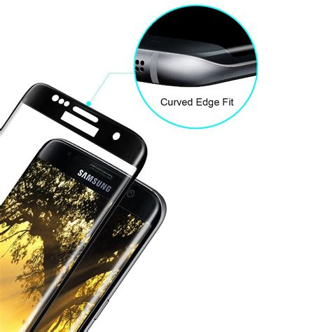 Grace Samsung S7 Flat Tempered Glass Pet 3d Cover Lis Putih curved edge glass screen protector galaxy s7 edge black
