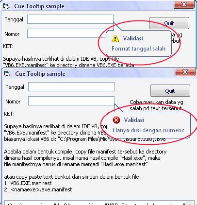 Format Cue Adalah | cara membuat cue banner tooltip vb6 dasar programer