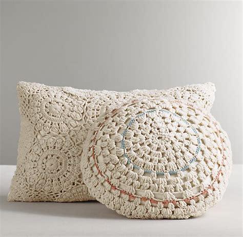 Crochet Pillow by Crocheted Decorative Pillow