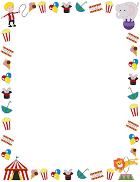 Carnival Borders Clipart by Circus Border Circus Scrapbooking Free