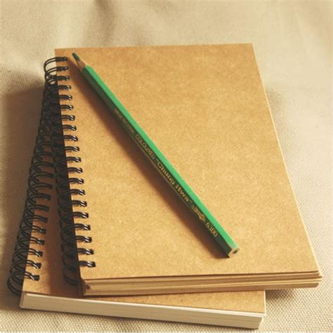 the drawing board journals books vintage kraft paper coil notebook blank sketch book