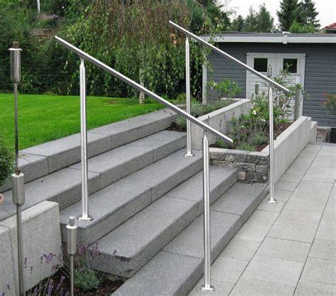 Treppe Handlauf Aussenbereich treppengel 228 nder edelstahl turin v2a handlauf