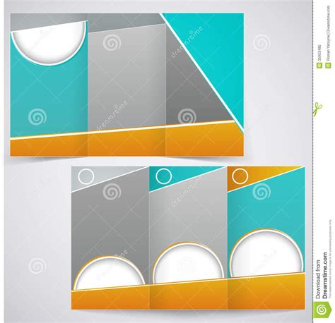 brochure layout design template vector vector brochure layout design with green and yello stock