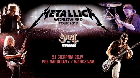 metallica koncert 2019 metallica zesp 243 ł zagra 21 sierpnia 2019 roku na pge