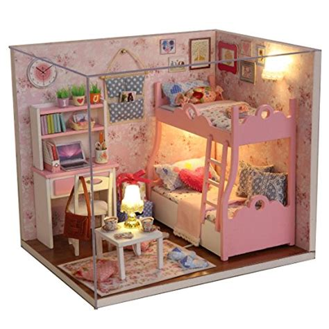 diy doll house furniture wood dollhouse miniature kit diy doll house room with furniture cover toy artwork gift smart