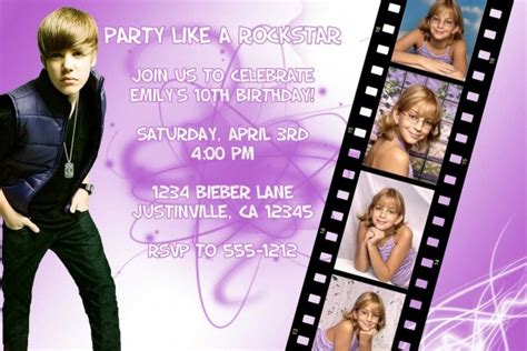 128 best images about justin bieber on purple invitation birthday and justin