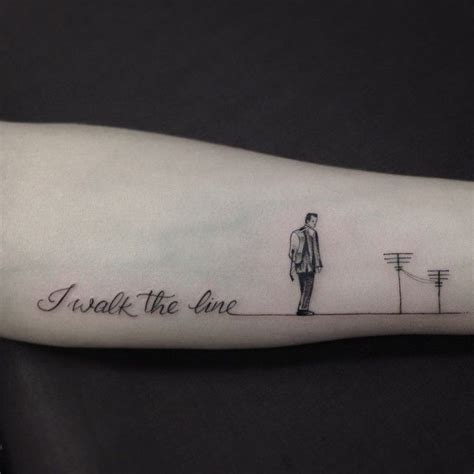 walk the line tattoo best 25 johnny ideas that you will like on