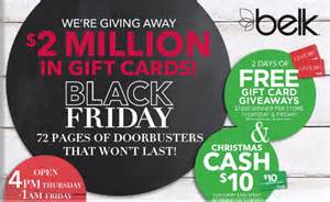 Belk Gift Cards - free belk gift card on thanksgiving black friday 5 1000 ftm