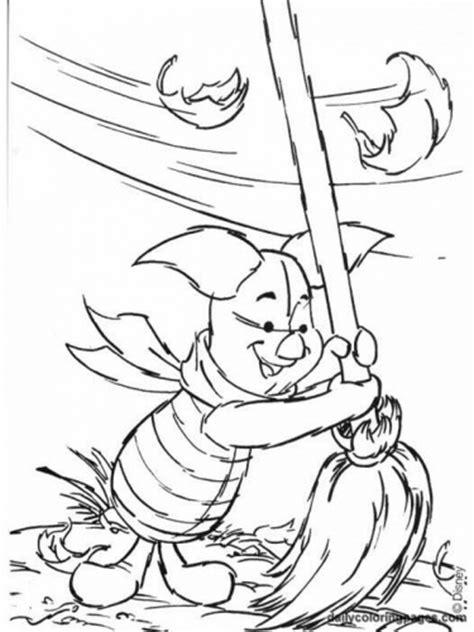 winnie the pooh coloring page autumn planse de colorat cu anotimpuri toamna