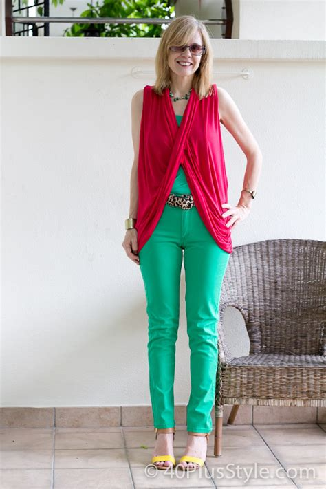 best swimsuits for heavy thighs rocking bright colours with this tight fitting h m pants