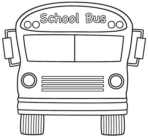 printable coloring pages school bus free printable school bus coloring pages for kids