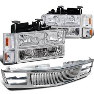 chevy 1500 1994 1998 chrome vertical grille and