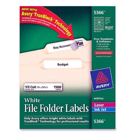 avery templates 5366 labels printer